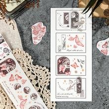Mohamm 50mm x 350mm Long Washi Masking Tape Universe Star Series Creative Scrapbooking Stationary School Supplies Girl Decoratio