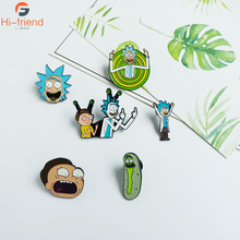 Europe and America Rick And Morty brooch funny fashion badge backpack clothing with jewelry accessories gift