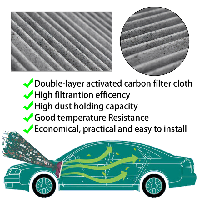 27277 EN000 27277 EN025 Car Pollen Cabin Air Conditioning Filter For Nissan Dualis Qashqai J10 JJ10 Sentra B16 X Trail T31 2PC|Cabin Filter|   -