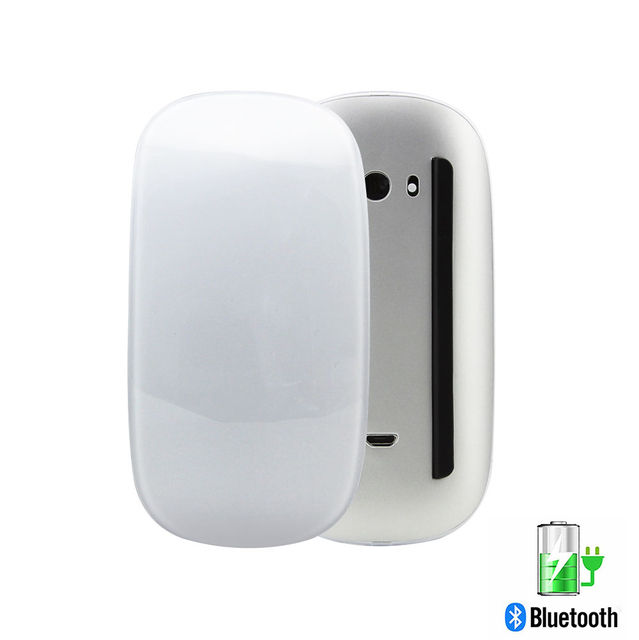 Bluetooth 5.0 Wireless Mouse Rechargeable Touch Magic Laser Slim Mice 1600DPI Quiet Office Computer Mause For Apple Macbook