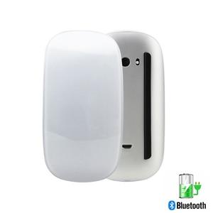 Image 1 - Ratón inalámbrico recargable por Bluetooth 5,0, Mouse delgado con láser mágico táctil de 1600DPI, silencioso para ordenador de oficina, para Apple Macbook