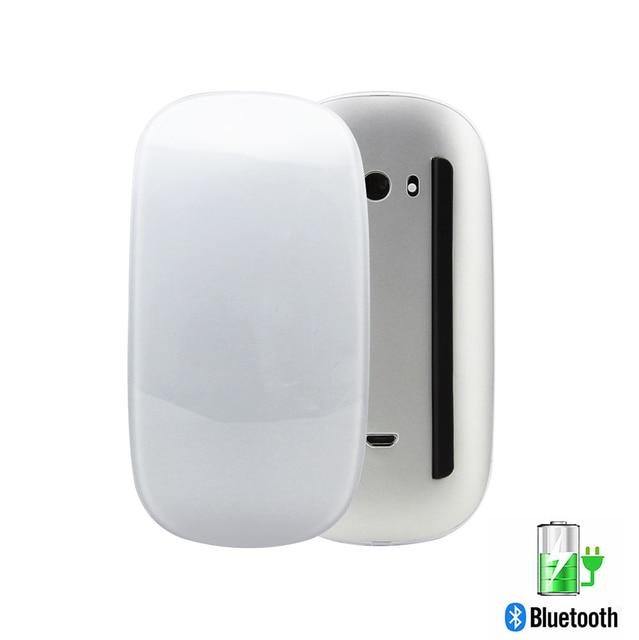 Ratón inalámbrico recargable por Bluetooth 5,0, Mouse delgado con láser mágico táctil de 1600DPI, silencioso para ordenador de oficina, para Apple Macbook