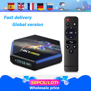50 pçs/lote Android caixa de tv Android 11 HK1 RBOX R2 8K RK3566 Quad Core Media player Play Store Rápido Android smart tv Set top box