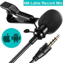 Mikrofon pojemnościowy AirMic 6M Lavalier nagrywający mikrofon pojemnościowy dla iphone'a z systemem Android SONY Canon Nikon DSLR