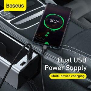 Image 3 - Baseus organizador do assento de carro metal caixa armazenamento automático bolso com portas usb duplas para o copo do carro telefone titular assento gap organizador gadgets