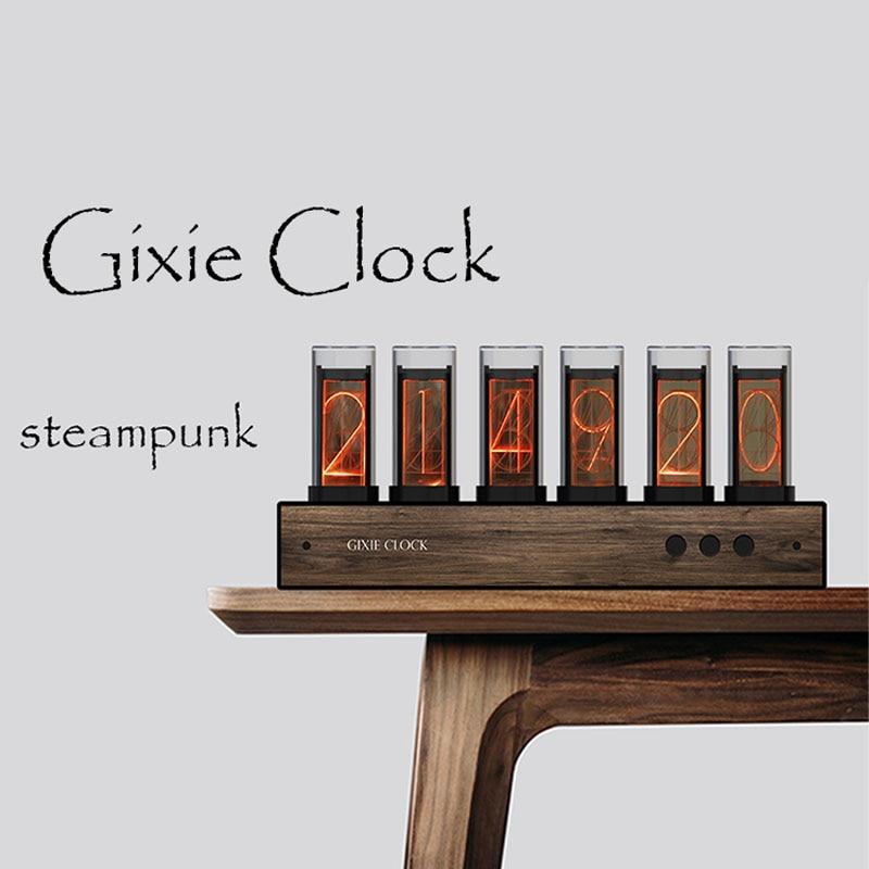 Glow Tube Clock Glow Clock Quasi-glow Tube Clock Creative Digital Clock Gixie Clock