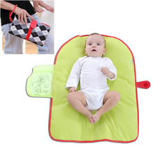 Больше функций портативный детский подгузник подкладка хранения складной водонепроницаемый обмен мочи Pad 10-12 7-9 0-3 4-6 месяцев