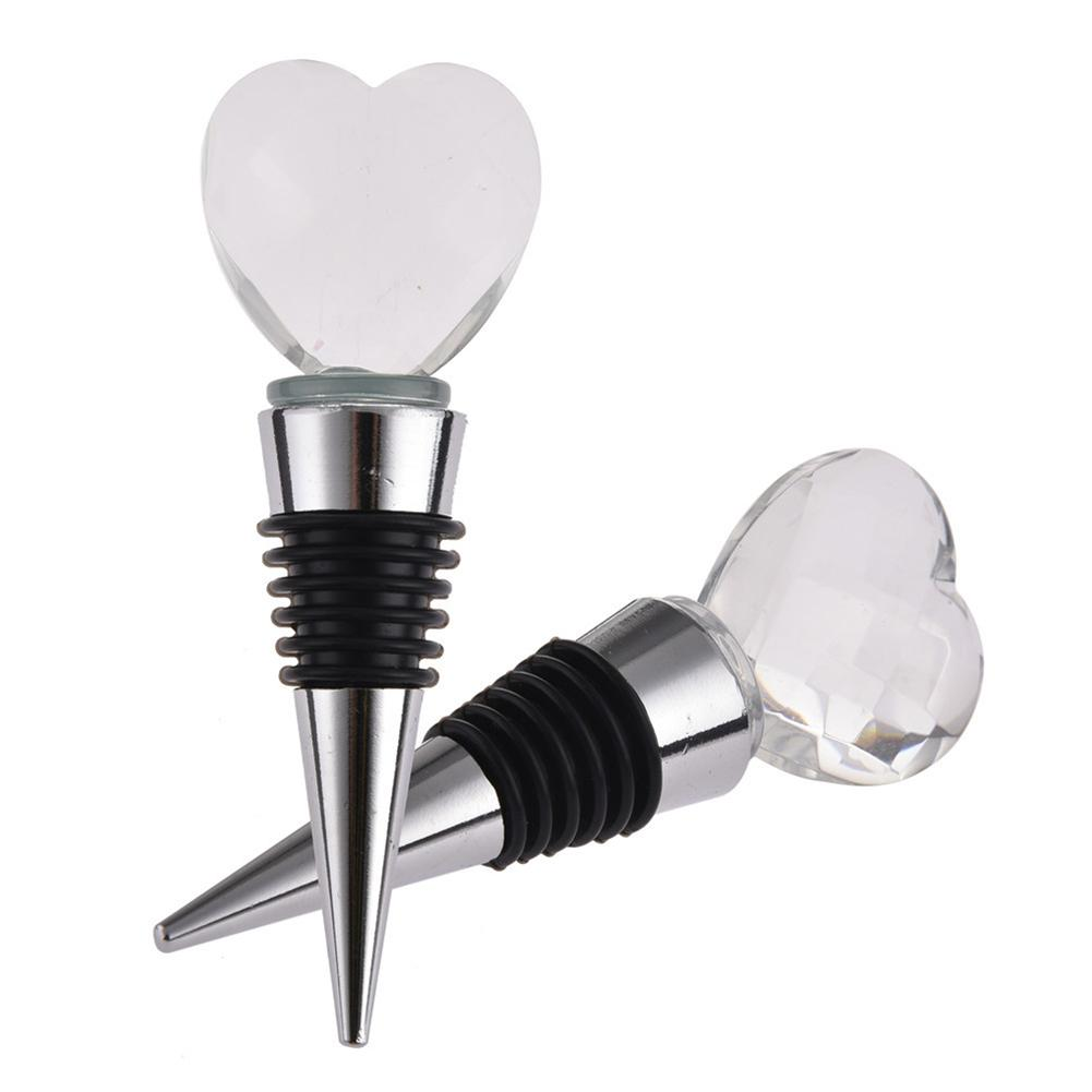 Elegant Coming Grape Wine Cork Heart Shaped Transparent Aluminum Crystal Wine Glass Bottle Vacuum Plug Bar Kitchen Wine Stopper in Other Bar Tools from Home Garden