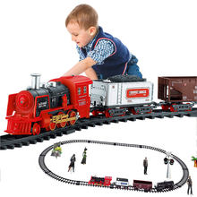 RC Electric Train Christmas Toy Railway Set Model Trains Remote Control Train Toy Electric Christmas Trains Toy For Children Gif(China)