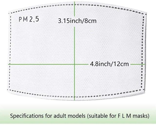 PM2.5 Mouth Mask Activated Carbon Filter For Washable Mouth Mask Dust Mask Face Protective Filter Media Flu-proof Filter 4