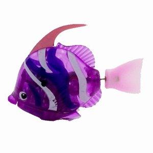 Забавная плавающая электронная рыба, работающая от аккумулятора, игрушечная рыба, робот для домашних животных для украшения аквариума