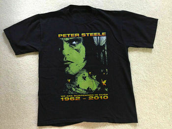 Camiseta negra de Peter Steele con banda negativa de tipo O, Unisex, todas las tallas, Reimpresión M1016