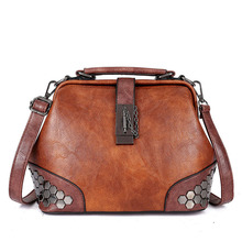 Classic Vintage Design Pu Leather Crossbody for Women Fashion Wild High Quality Shoulder Handbags Casual Female Top Handle
