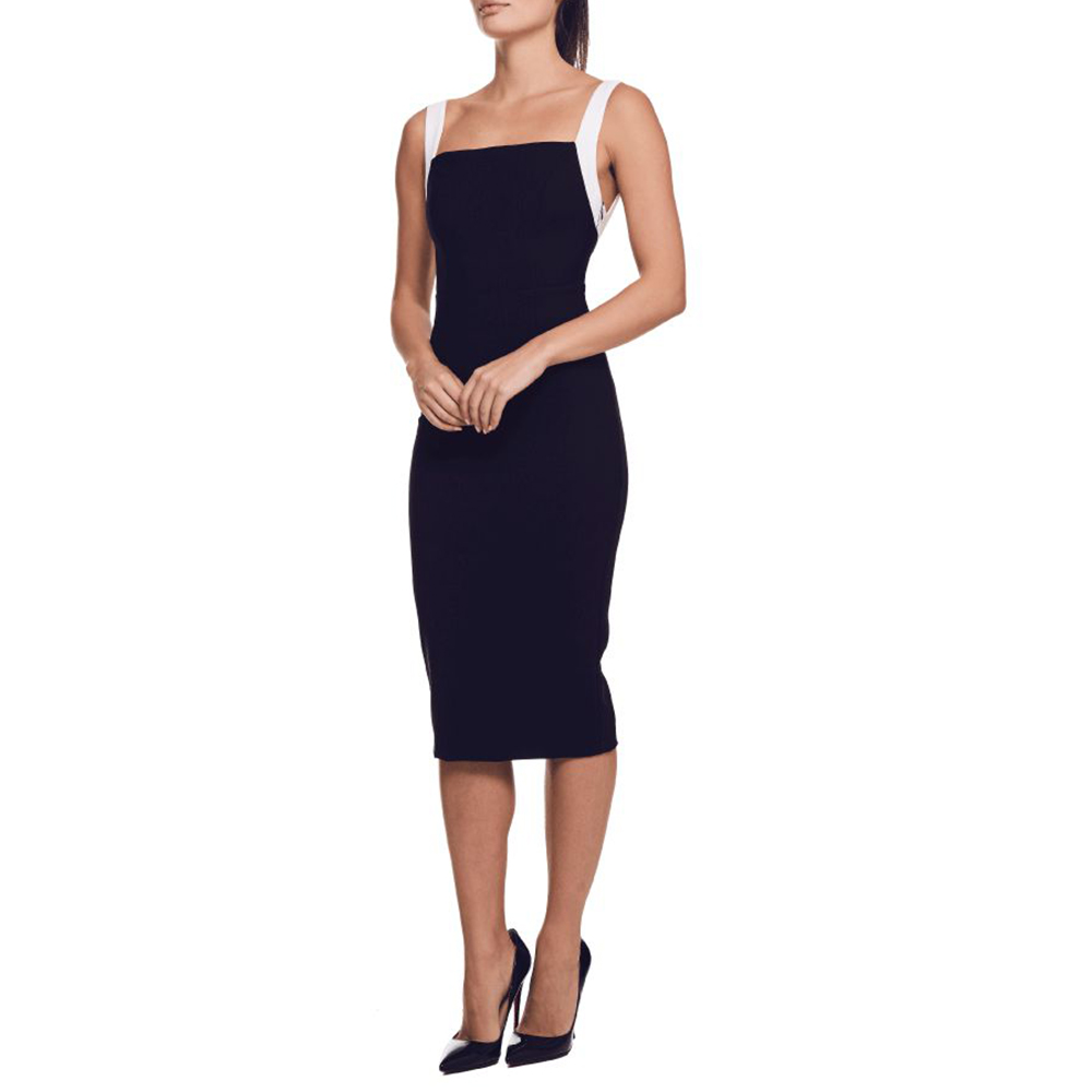 Ocstrade Vestidos Bandage 2020 New Arrival Summer Sexy Black and White Bandage Dress Bodycon Celebrity Evening Club Party Dress