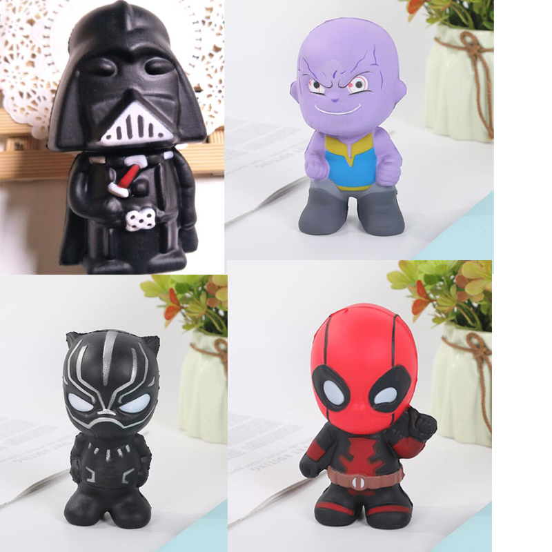 Cute Squishy Slow Rising Toys Star Wars Figure Dath Vader Deadpool Thanos Antistress Slow Rise Squishy Jumbo Toys