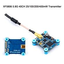 VTX XF5806 5.8G 40CH 25/100/200/400mW değiştirilebilir Video FPV verici 20*20mm XF modeli FPV yarış RC Drone multicopter parçaları