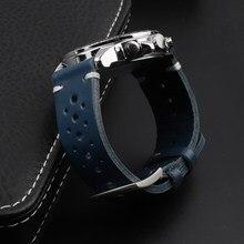 Haute Qualité En Cuir Véritable Bracelet De Montre Sangles 18mm 20mm 22mm noir Marron Café Bleu Dégagement Rapide Bracelet De Montre s Remplacement