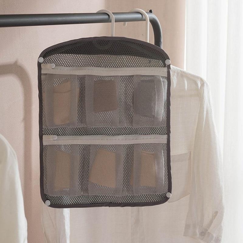 Meyjig Sock Hanging Bag Multi-functional Storage Bag Washing Machine Protective Net Bag Portable Drying
