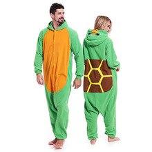 Ninja Turtles Women Pajamas Kigurumis Onesies Men Homewear Carnival Festival Nightie Sleepwear Funny Unisex Jumpsuits полуботинки tm ninja turtles для мальчика