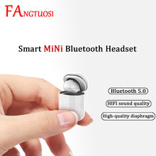 FANGTUOSI HD Stereo Bluetooth Kopfhörer Mini Ohrhörer Headset Mit Mic Bluetooth 5,0 Musik Kopfhörer Für IOS Android
