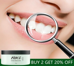 natural tooth whitening powder effective whitening tooth teeth whitening powder toothpaste minty and green tea flavor 50g/bottle(China)