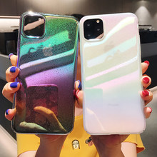 Gradient Rainbow Colorful Case For iPhone 11 Pro XS MAX XR X 7 8 6 6S Plus Hard PC Protective Back Cover For Huawei Mate 30 Pro(China)