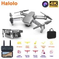 Halolo E68 WIFI FPV Mini Drone Con Ampio Angolo di HD 4K 1080P Della Macchina Fotografica Hight Tenere Modalità RC Pieghevole quadcopter Dron Regalo drone fotocamera