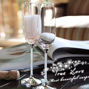2 sztuk/zestaw luksusowy kryształ diament kieliszki do szampana czara kieliszek do wina romantyczny ślub okulary prezent box Party drinkware Supplies
