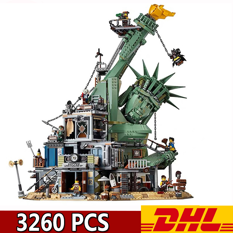 11252 45014 <font><b>70840</b></font> 3260Pcs Doomsday collapsed Statue of Libert Model Building Blocks Children's Birthday Present image