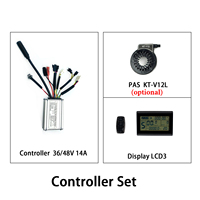 KT Kunteng Controller 36V 48V 250W 14A  Waterproof LCD3 Display PAS Set Electric Bicycle Controller for Ebike Conversion Kit