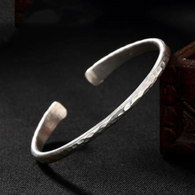 925 Sterling Silver Bracelet Lady Style Retro Handicraft Characteristic Simple Open Delicate Jewelry