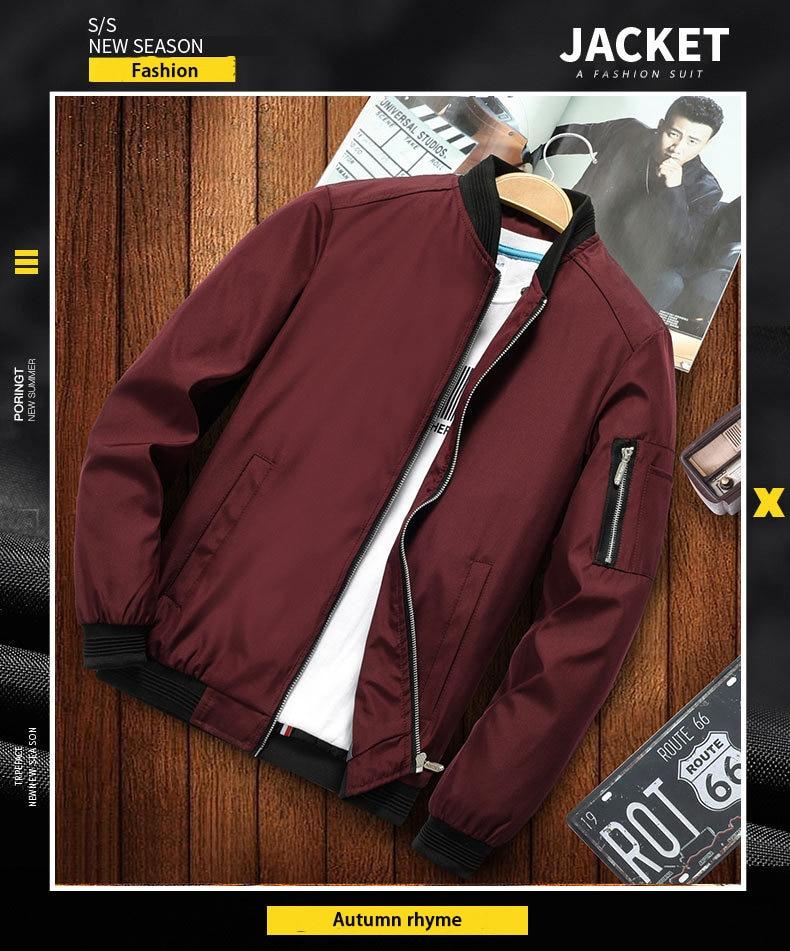 H753fcea21da3434fb6a0f2f0476e3d826 2019 new jacket loose men's bomber jacket men's casual hip hop baseball collar print fashion jacket smooth jacket streetwear