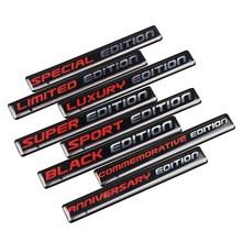 Adesivo emblema epóxi para carro, 2 peças, edição limitada, azul/vermelho, retrô, decalque reflexivo para bmw honda toyota suzuki