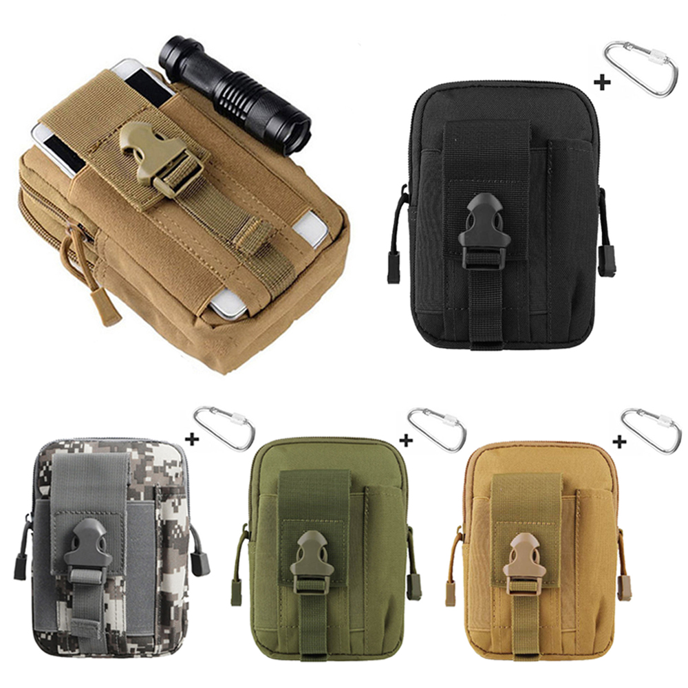 Tactical EDC Utility Gadget Waist Bag Military Phone Molle Pouch Belt Holster Outdoor Camping Climbing Bag