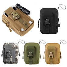 6 Colors Tactical EDC Utility Gadget Waist Bag Cell Phone Waist Bag Pack Military Molle Pouch Belt  Holster Hunting Gear 1000d molle men tactical admin magazine storage pouch pistol gun holster bag edc utility accessory pack mag map flashlight bag