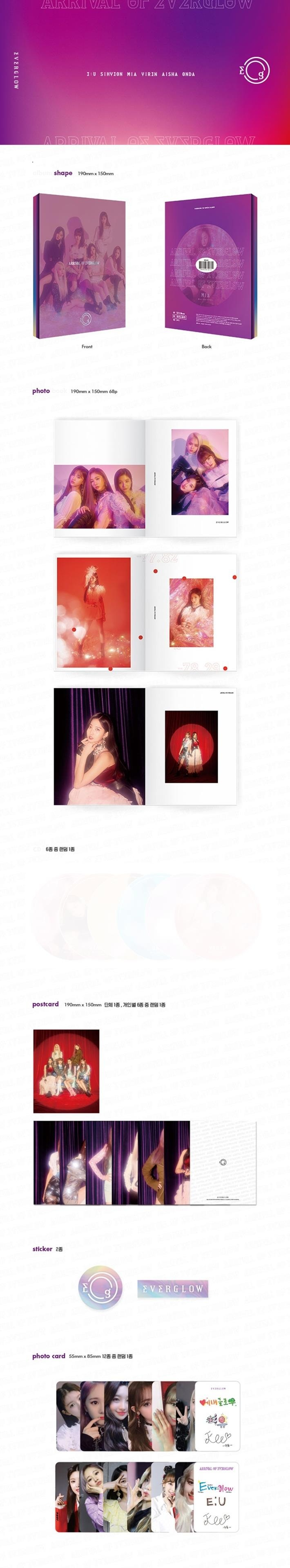 [MYKPOP]~100% OFFICIAL ORIGINAL~ EVERGLOW: ARRIVAL OF EVERGLOW CD, KPOP Fans Collection SA19090309