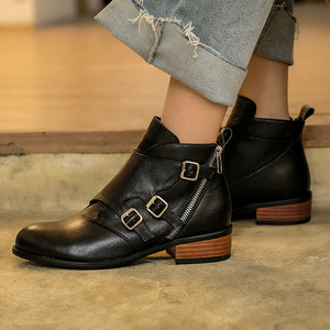 Image 5 - MORAZORA 2020 top quality genuine leather ankle boots for women zip buckle autumn winter booties fashion dress shoes woman