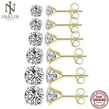 Inalis redondo em forma de brincos para mulheres zircônia cúbica pequeno brinco presentes do dia dos namorados moda jóias melhor venda