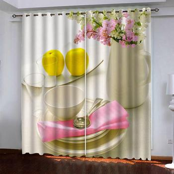 custom 3D curtains breakfast window curtain living room bedroom restaurant 3D curtains blackout window curtain