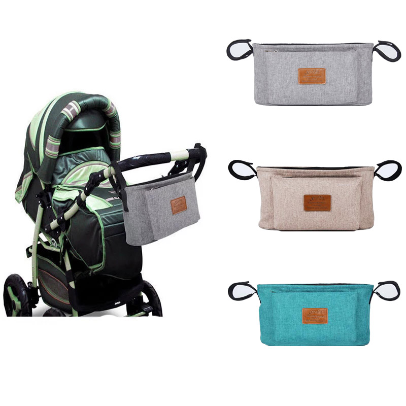 Baby Stroller Organizer Nappy Bag Mummy Waterproof Hanging Carriage Bottle Bag Handbag Pram Buggy Cart Organizer Diaper Bag