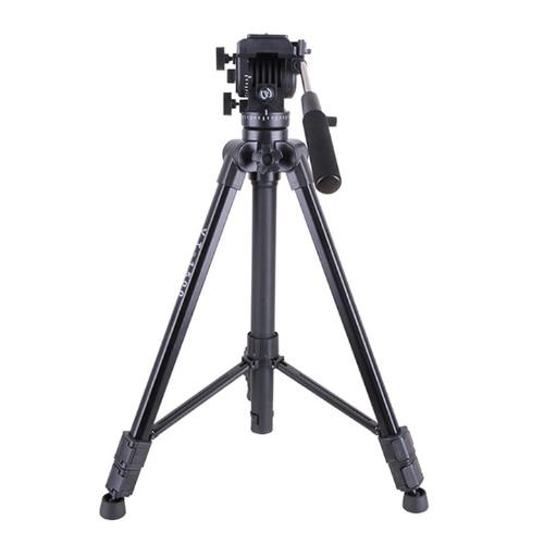 VT 1500 Professional Aluminum Video Camera Studio Photo Tripod with Fluid Damping Head for film video shooting Max Loading 22lb