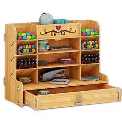 Ayane Creative pen container storage box small lattice office desktop shelf students home personality simple pen organizer