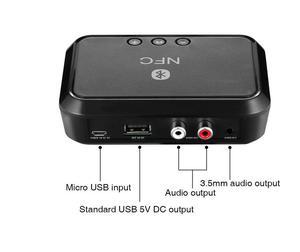 Image 1 - NFCสเตอริโอไร้สายบลูทูธ5.0ตัวรับสัญญาณอะแดปเตอร์แบบพกพาNFC 3.5มม./เอาต์พุตRCAเพลงเสียงรถลำโพง
