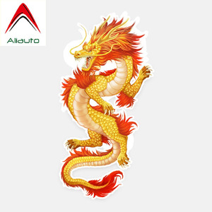 Aliauto Fashion Car Sticker Chinese Dragon Auto Decoration Vinyl Decal Cover Scratches for Mercedes Benz Renault Skoda ,14cm*7cm