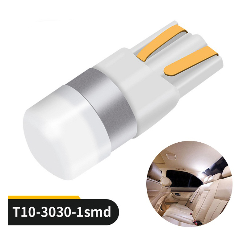 10pcs Car T10 LED Canbus 3030 SMD T10 W5W Led Bulbs 6000K Pure White Auto Vehicle Dome Door Bulb Reading Lamp 12V Car Styling