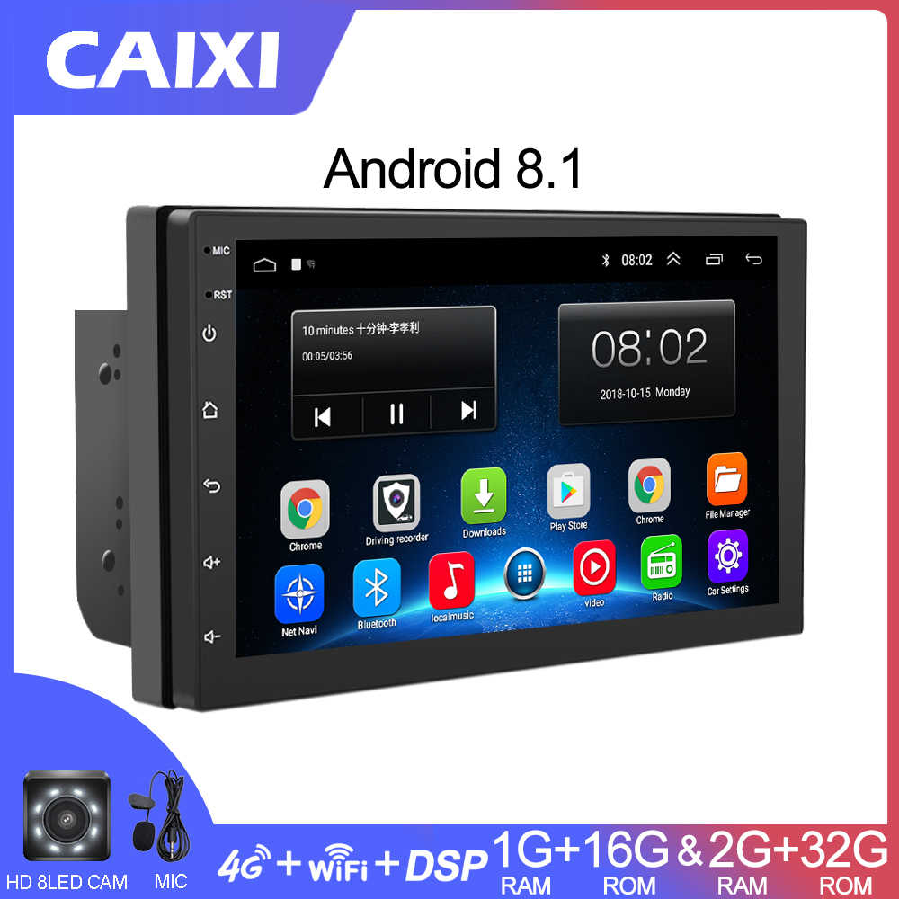 CAIXI RAM2G+ROM32G Android 8.1 4G Car Radio Multimedia Video Player Navigation GPS For Volkswagen Nissan Hyundai Kia Toyota CR-V