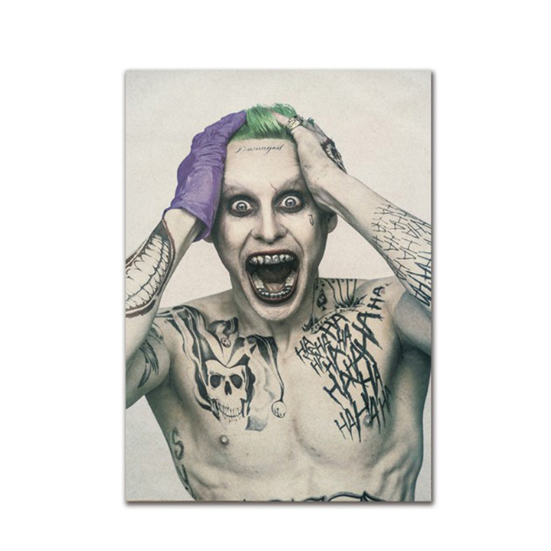 Suicide Squad Joker Decor Vintage Kraft Paper Classic Movie Poster Map School Wall Office Decoration Art Retro Prints