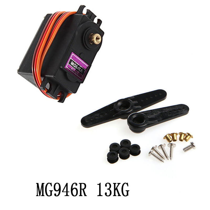 1PC MG946R Servo 13kg High Torque Metal Gear Servo For RC Car HSP HPI Wltoys Kyosho TRAXXAS 1/8 1/10 Airplane Helicoter