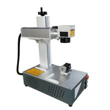 Raycus 20W 30W 200x200mm all in one fiber laser marking machine marker used for stainless steel metal and non-metal with rotary