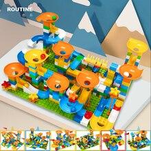 Funny Marble Race Run Big Block Compatible City Building Blocks Funnel Slide Blocks DIY Big Bricks Puzzle Toys For Children Gift